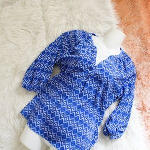 Skies Are Blue Blue 3/4 Sleeved Blouse
